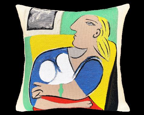 Poulin Design - Picasso - Femme Dans Fauteuil Jaune - Pude