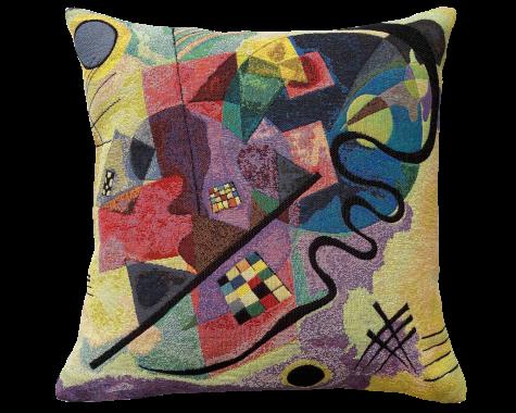 Poulin Design - Kandinsky - Jaune-Rouge-Bleu Extrait 1 - Pude