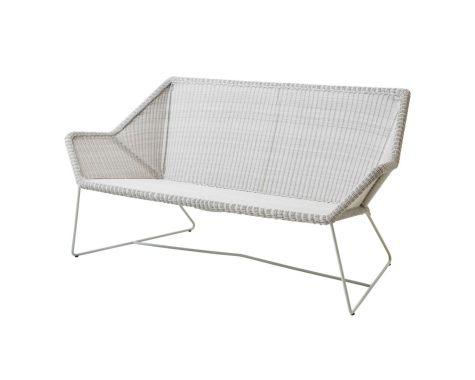 Breeze loungesofa i hvid grå