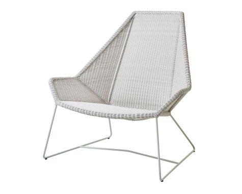 Breeze highback lounge havestol i grå