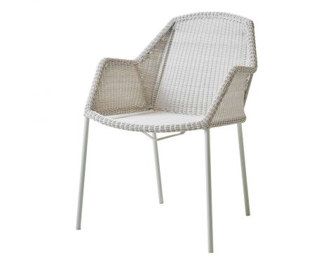 Breeze stabelbar havestol med armlæn i grå