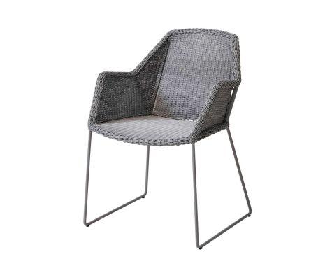 Cane-Line - Breeze Havestol m/armlæn - Lys grå