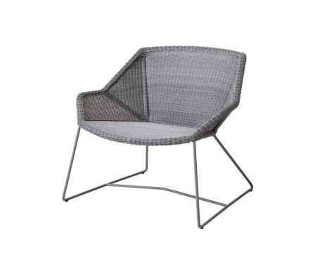 Cane-Line - Breeze Lounge Stol - Lys grå