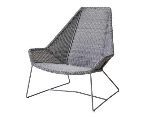 Cane-Line - Breeze Highback stol - lys grå