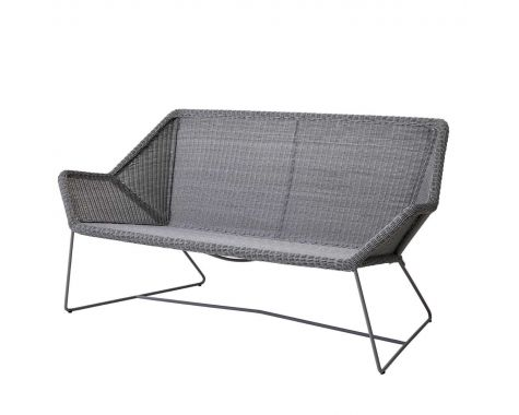 Cane-Line - Breeze Loungesofa, 2 pers. - lys grå