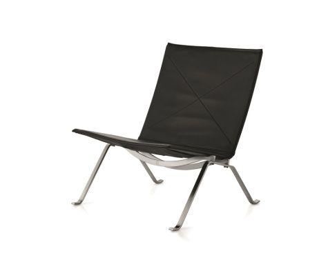 FRITZ HANSEN - PK22™ - STOL - Sort Aura læder