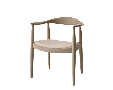 PP MØBLER - PP503 - Den Runde / The Chair, polstret sæde