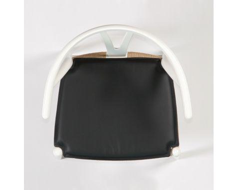 Bent Hansen - Hynde til Y-stolen (CH24) - Sort basic læder