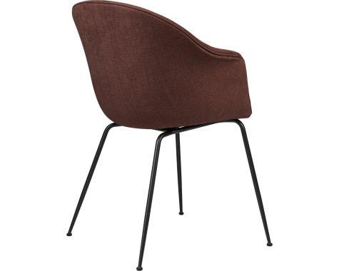 Gubi - Bat - fuldpolstret stol - mat sort stel