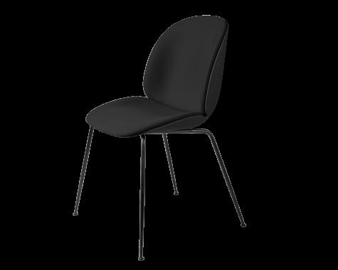 Gubi - Beetle - forsidepolstret stol - mat sort stel