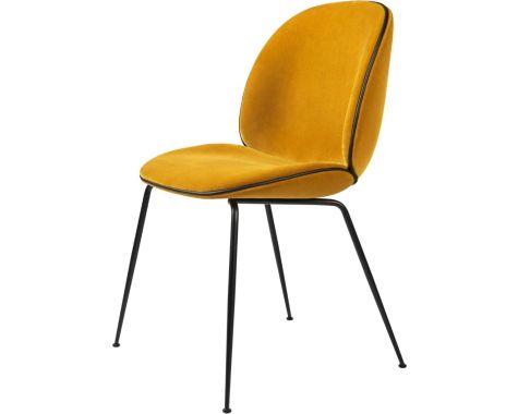 Gubi - Beetle - fuldpolstret stol - mat sort stel