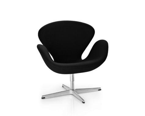 Svanen™ lænestol i sort uld