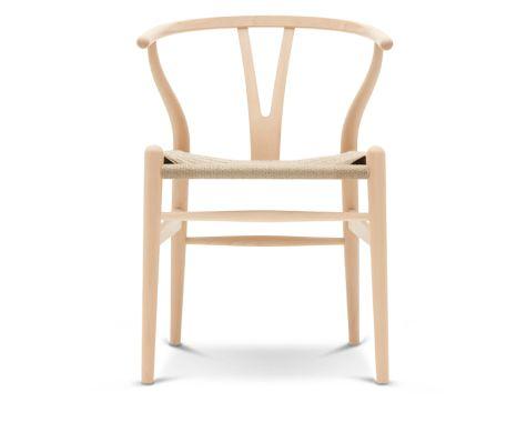 CH24 - Y-stol - Sæbebehandlet bøg med natur flet