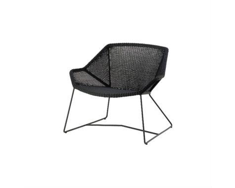 Breeze loungestol i sort