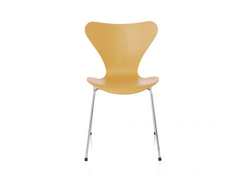 Fritz Hansen 7'er stol - 3107 stol i Egyptian Yellow farvet ask