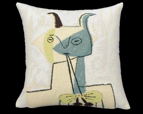 Poulin Design - Picasso - Faune jaune et bleu jouant de la diaule - Pude