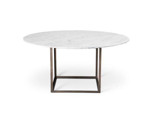 DK3 - JEWEL TABLE - HVID CARRARA MARMOR