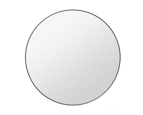 GUBI - BLACK BRASS WALL MIRROR, RUND
