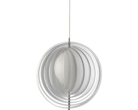 VERNER PANTON - MOON LAMPE - HVID