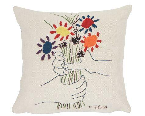 Poulin Design - Picasso - Fleurs et Mains - Pude