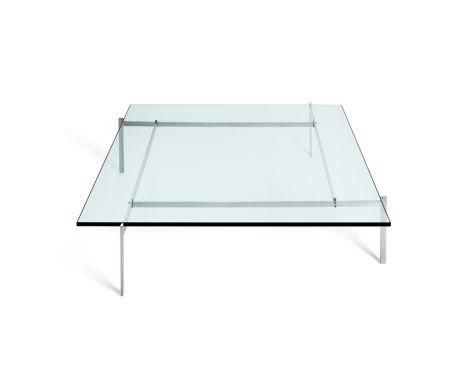 Fritz Hansen - PK61A - sofabord med glas