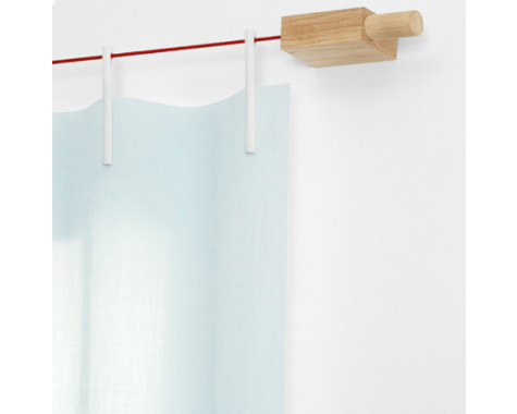 Kvadrat - Ready Made curtain uvævet stof