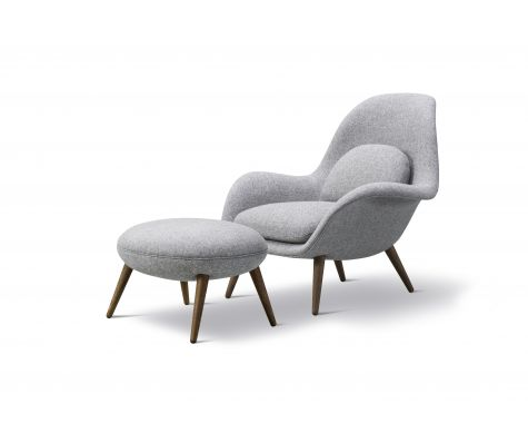 FREDERICIA FURNITURE - SWOON CHAIR + OTTOMAN