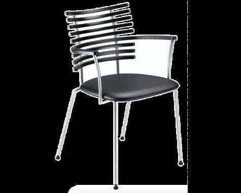 Naver Collection - GM 4106 Tiger - Spisebordsstol m. armlæn - Rustfrit stål