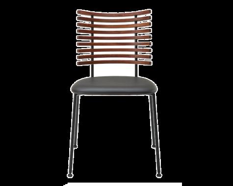 Naver Collection - GM 4105 Tiger - Spisebordsstol u. armlæn - Sort pulverlakeret stål