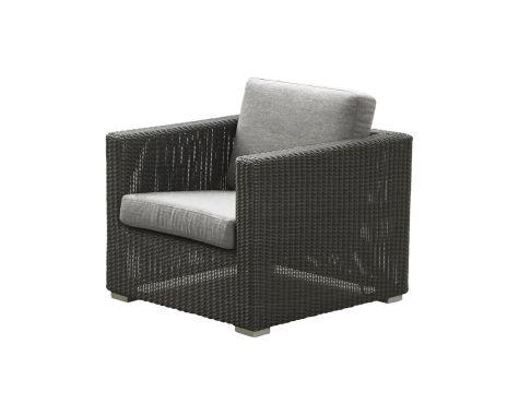 Chester lounge stol - Grafit grå
