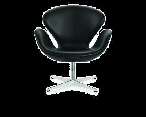 Svanen™ lænestol i sort læder