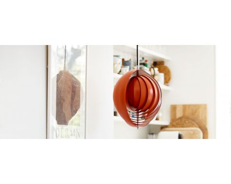 VERNER PANTON - MOON LAMPE - ORANGE