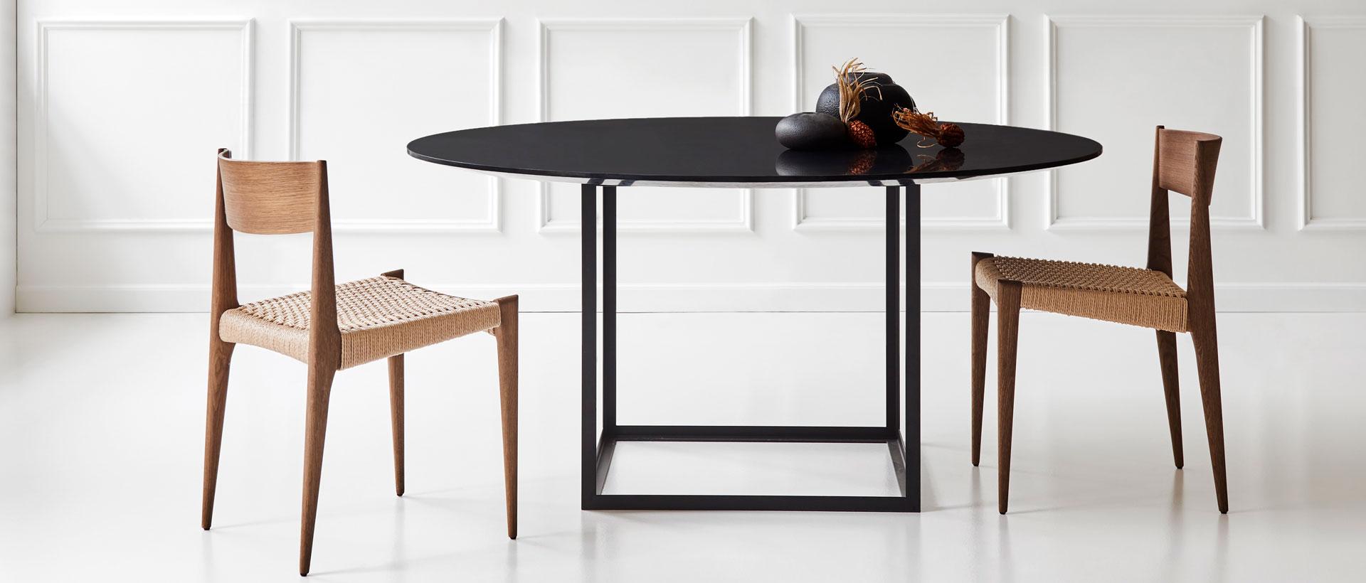 Jewel Table i sort marmor